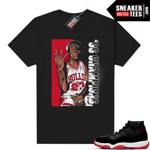 Jordan 11 Bred shirt 96 Champs