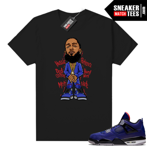 Winter 4s shirt black Nipsey Hussle Toon