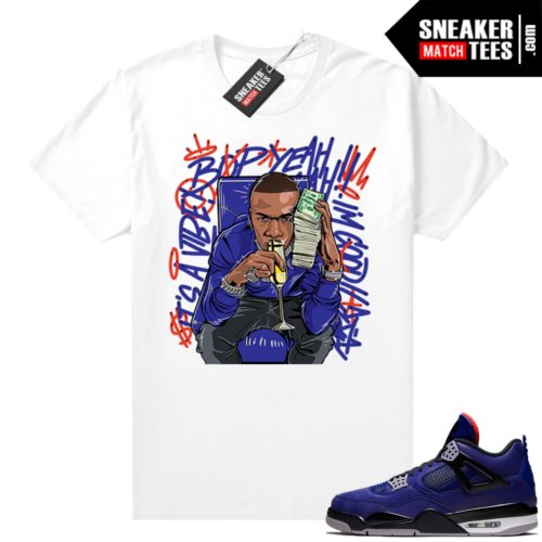 Winter Loyal Blue 4s Shirt White Billion Dollar Baby
