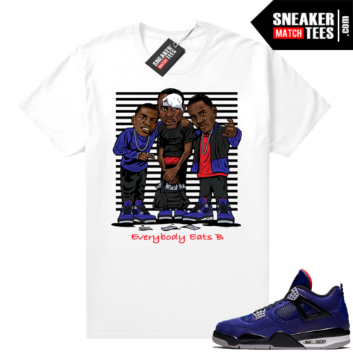 Winter Loyal Blue 4s Shirt White Everybody Eats B