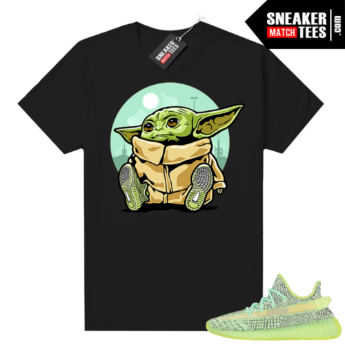 Yeezreel Yeezy 350 shirt black Baby Yoda