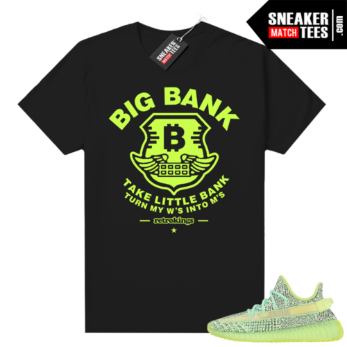 Yeezreel Yeezy 350 shirt black Big Bank V1