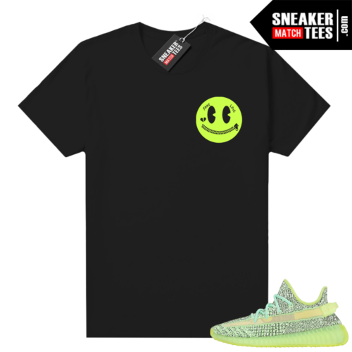 Yeezreel Yeezy 350 shirt black Fake Love Smiley