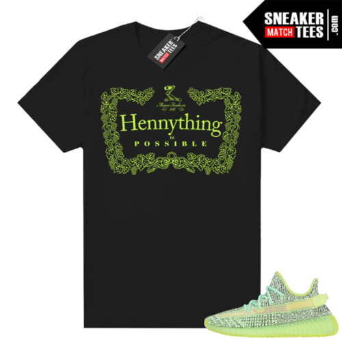 Yeezreel Yeezy 350 shirt black Hennything