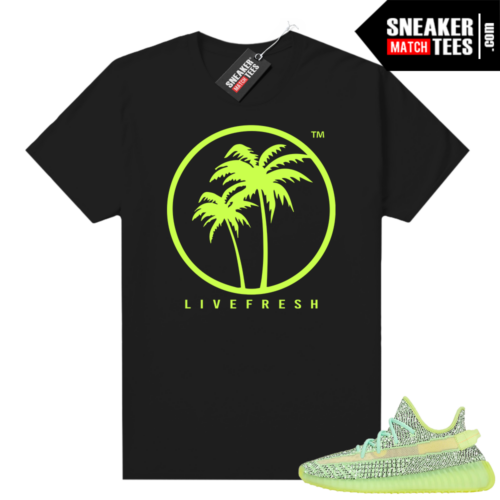 Yeezreel Yeezy 350 shirt black Live Fresh Palm