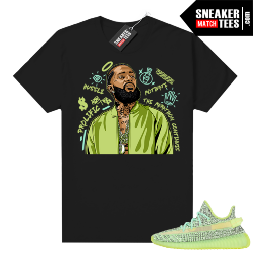 Yeezreel Yeezy 350 shirt black Nipsey Tribute