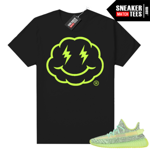 Yeezreel Yeezy 350 shirt black Smiley Cloud