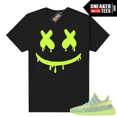 Yeezreel Yeezy 350 shirt black Smiley Drip
