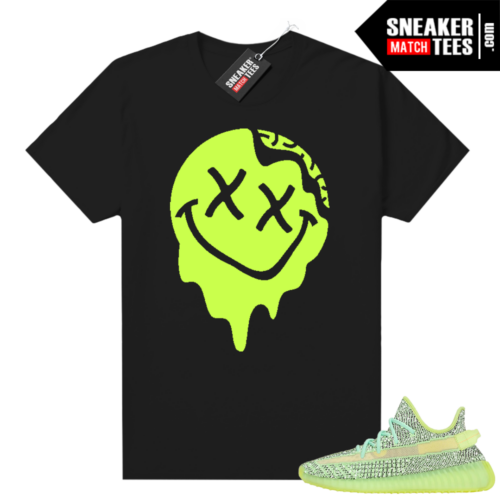 Yeezreel Yeezy 350 shirt black Smiley Slime