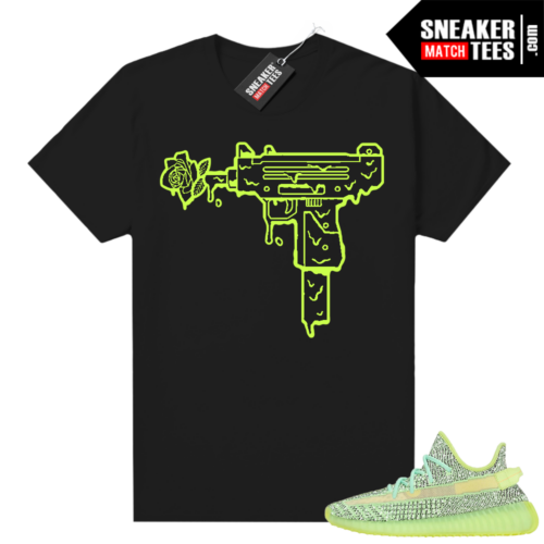 Yeezreel Yeezy 350 shirt black Uzi Rose
