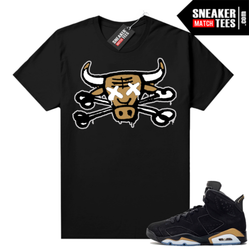 DMP 6s shirt black sneaker match Bully Bones