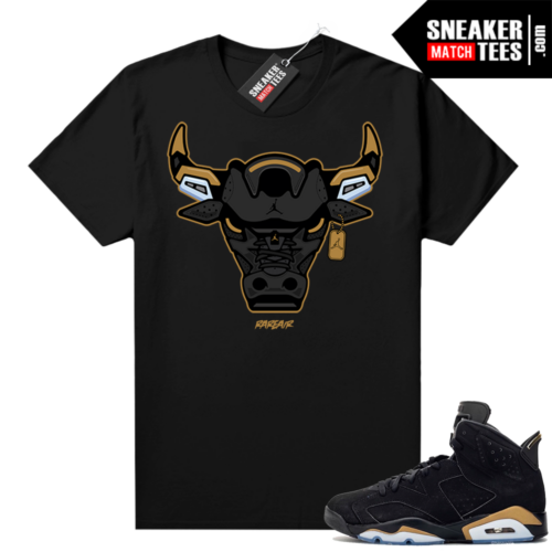 DMP 6s shirt black sneaker match Rare Air Bull