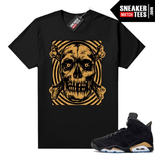 DMP 6s shirt black sneaker match Skull Vibes