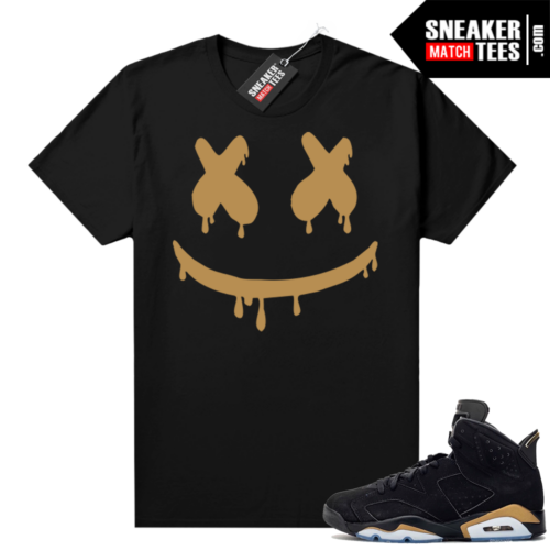 DMP 6s shirt black sneaker match Smiley Drip