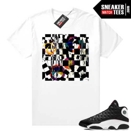 Jordan 13 Reverse He Got Game shirt White Abstract Art