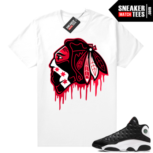 Jordan 13 Reverse He Got Game shirt White Black Hawks Drip