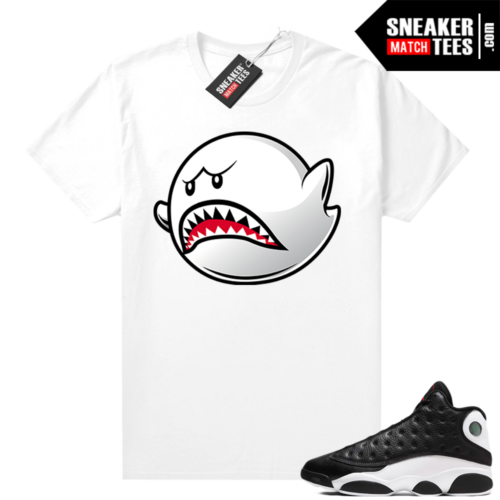 Jordan 13 Reverse He Got Game shirt White Boo Shark