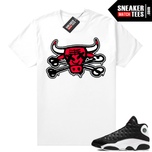 Jordan 13 Reverse He Got Game shirt White Bully Bones