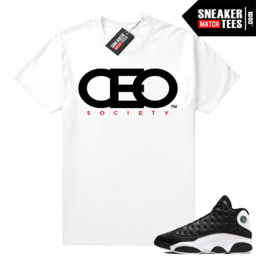 Jordan 13 Reverse He Got Game shirt White CEO Society Logo