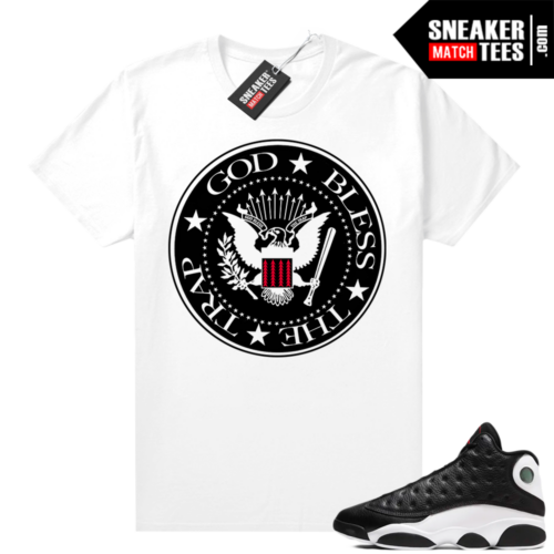 Jordan 13 Reverse He Got Game shirt White God Bless the Trap Logo