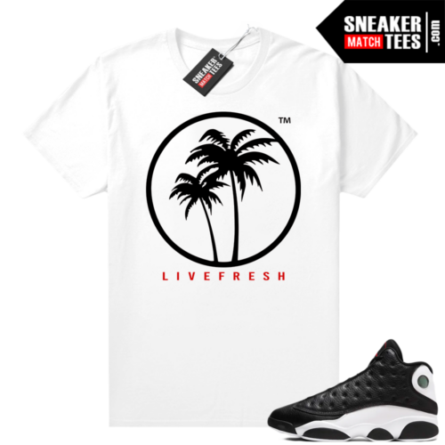 Jordan 13 Reverse He Got Game shirt White Live Fresh Palm