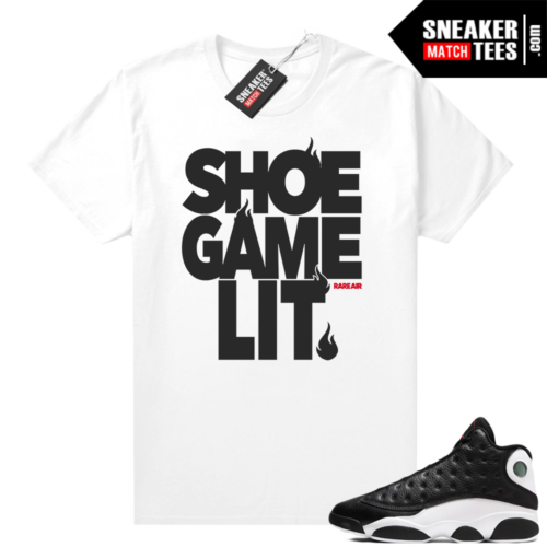Jordan 13 Reverse He Got Game shirt White Shoe Game Lit