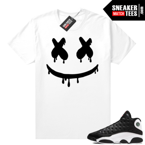 Jordan 13 Reverse He Got Game shirt White Smiley Drip
