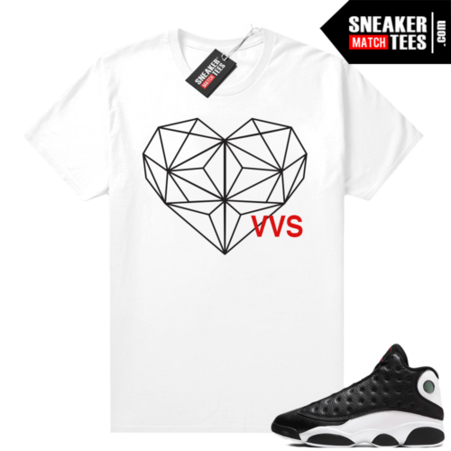 Jordan 13 Reverse He Got Game shirt White VVS Heart Diamond