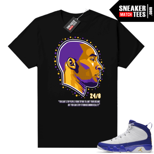 Jordan 9 Kobe Shirt Kobe Dreams Black