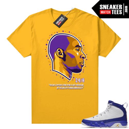 Jordan 9 Kobe Shirt Kobe Dreams Gold