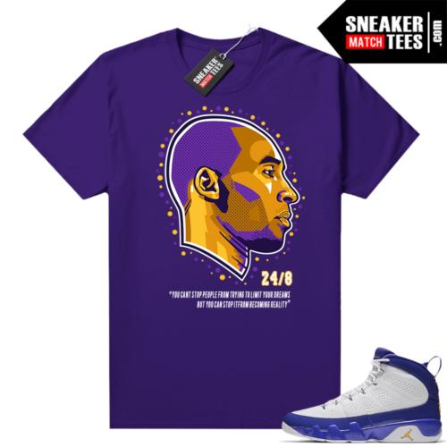 Jordan 9 Kobe Shirt Kobe Dreams Purple
