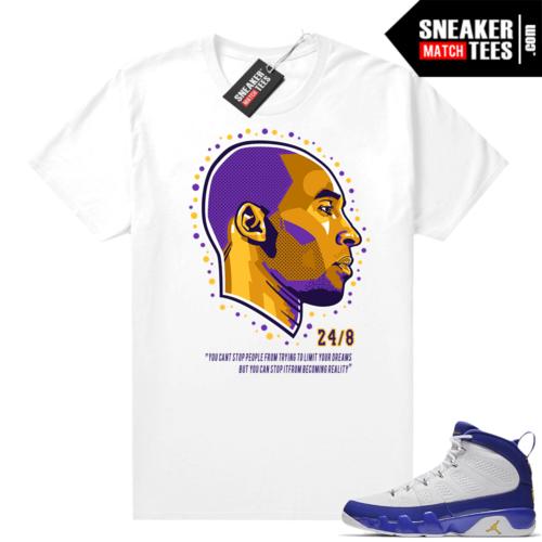 Jordan 9 Kobe Shirt Kobe Dreams White