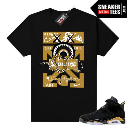 Jordan retro 6 DMP shirt Designer Mashup
