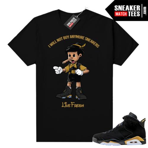 Jordan retro 6 DMP shirt Sneakerhead Pinocchio