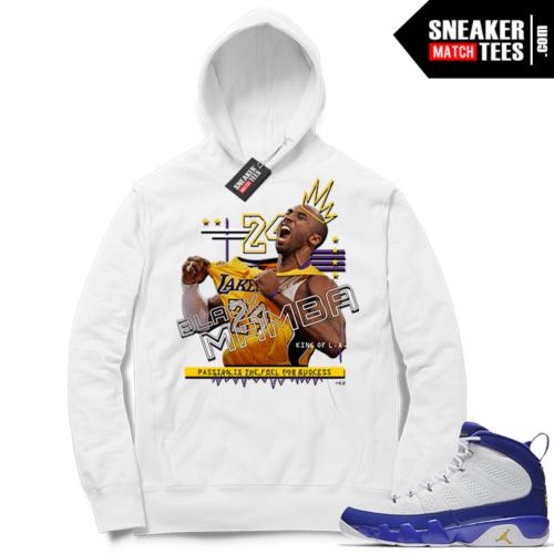 Kobe Bryant Hoodie Jordan 9 Kobe PE
