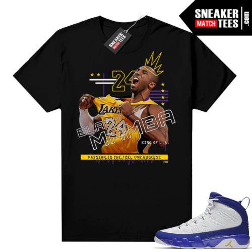 Kobe Bryant t shirt matching Jordan 9 Kobe