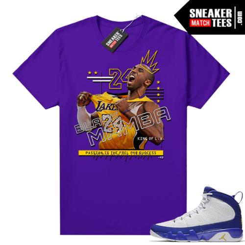 Kobe Bryant tee Jordan 9 Kobe