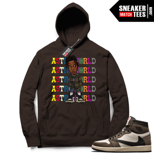 Travis Scott Jordan 1 hoodie Chocolate Astroworld