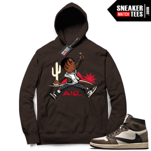 Travis Scott Jordan 1 hoodie Chocolate Jumpman Travis