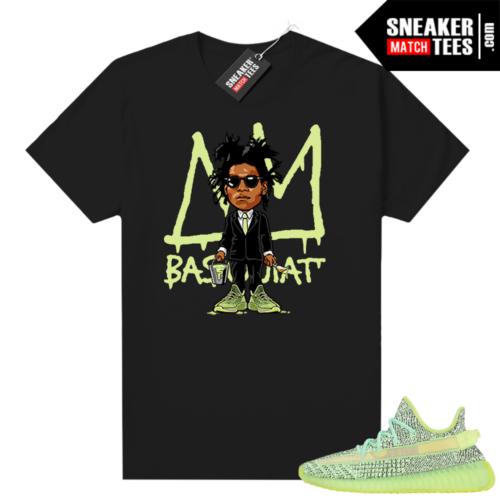 Yeezreel Yeezy 350 shirt black Basquiat Toon