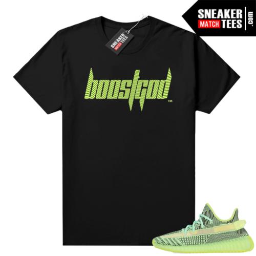 Yeezreel Yeezy 350 shirt black Boostgod Logo