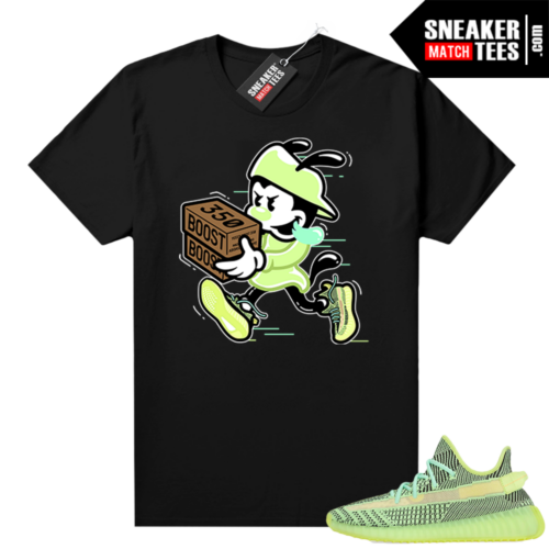 Yeezreel Yeezy 350 shirt black Double Up