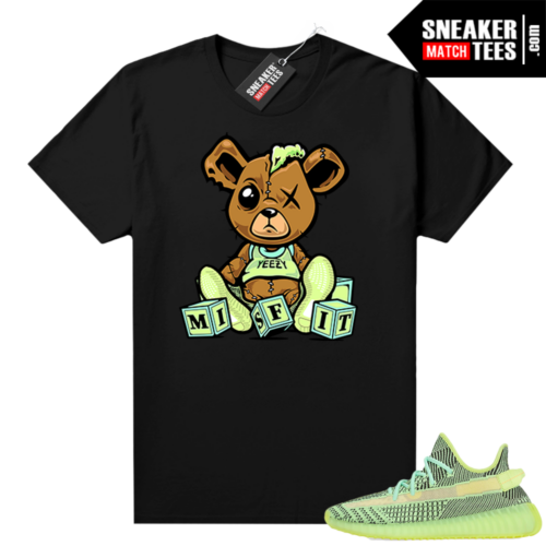 Yeezreel Yeezy 350 shirt black Misfit Bear