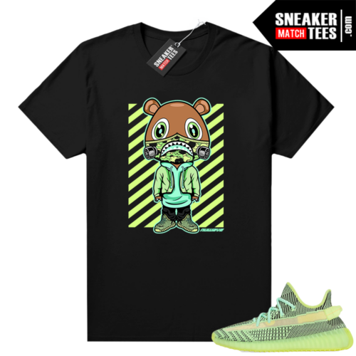 Yeezreel Yeezy 350 shirt black Nuwave Bear