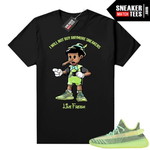 Yeezreel Yeezy 350 shirt black Pinocchio