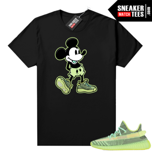 Yeezreel Yeezy 350 shirt black Sneakerhead Mickey
