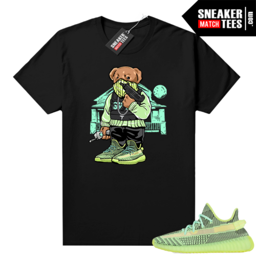 Yeezreel Yeezy 350 shirt black Trap House Bear