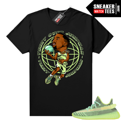 Yeezreel Yeezy 350 shirt black Yeezy over jumpman