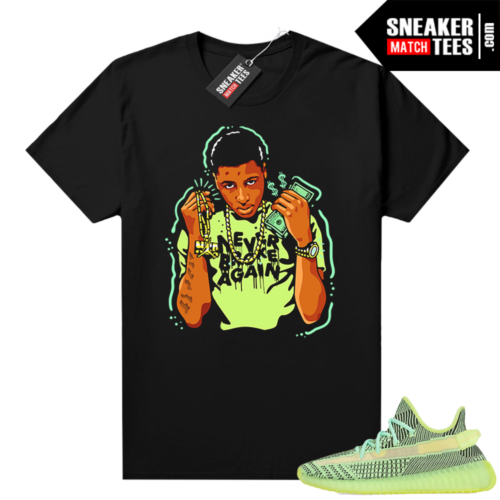 Yeezreel Yeezy 350 shirt black Young Boy NBA