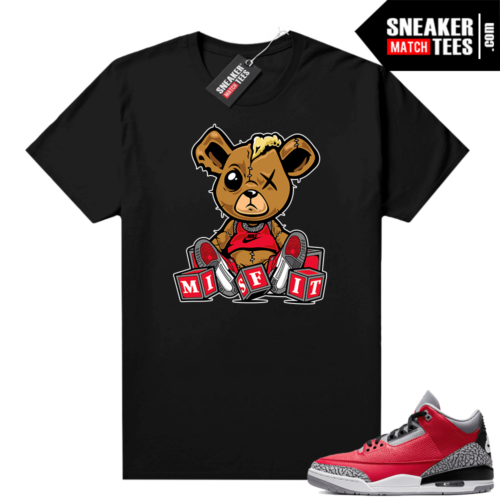Jordan 3 Red Cement sneaker tees shirt Misift Teddy